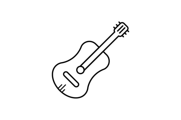 Print on Demand: Guitar Graphic Icons By khld939