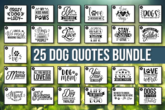 Dog Quotes Bundle Graphic