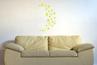 Half Moon Made out of Stars 24x24 Inch Wall Art Craft Cut File By Creative Fabrica Crafts