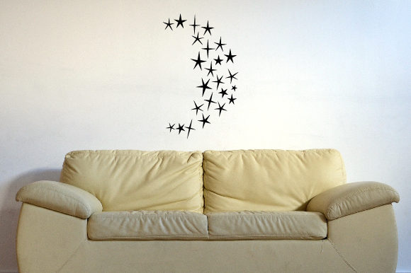 Half Moon Made out of Stars 24x24 Inch Wall Art Craft Cut File By Creative Fabrica Crafts - Image 2