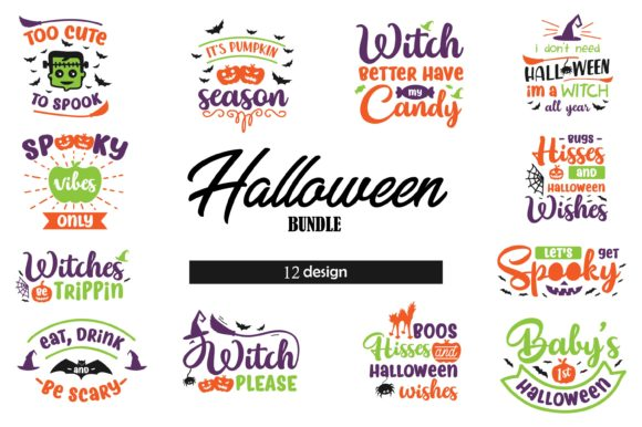 Download Free Halloween Bundle Graphic By Graphicrun123 Creative Fabrica for Cricut Explore, Silhouette and other cutting machines.