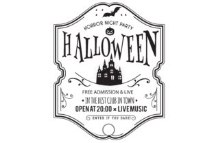 Download Free Halloween Party Invitation Card Graphic By Baraeiji Creative SVG Cut Files