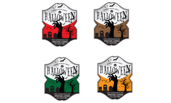 Print on Demand: Halloween Party Invitation Card Graphic Illustrations By baraeiji