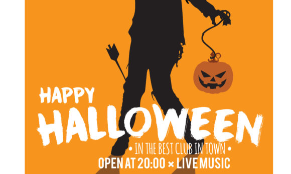 Download Free Halloween Party Invitation Card Grafico Por Baraeiji Creative for Cricut Explore, Silhouette and other cutting machines.