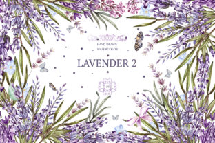 Hand Drawn Watercolor Lavender 2 Graphic Objects By Knopazyzy
