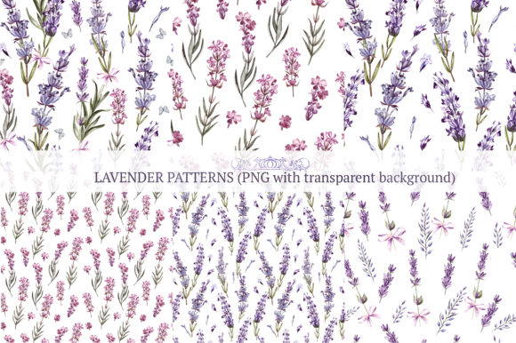 Hand Drawn Watercolor Lavender 2 Graphic Objects By Knopazyzy - Image 6