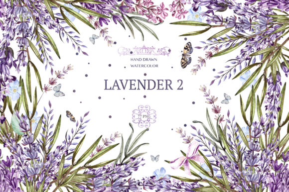 Hand Drawn Watercolor Lavender 2 Graphic By Knopazyzy
