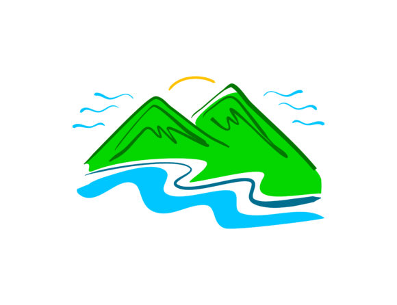 Download Free Hand Drawn Mountain Logo Graphic By Meisuseno Creative Fabrica for Cricut Explore, Silhouette and other cutting machines.