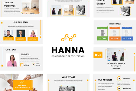 Hanna Powerpoint Presentation Graphic By TMint
