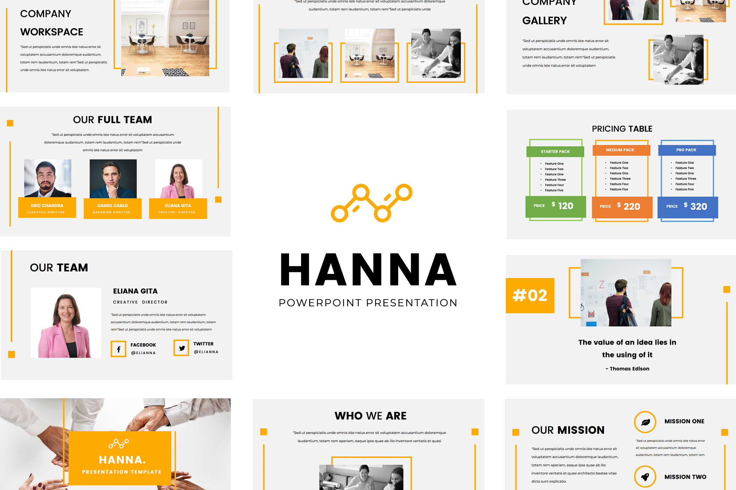 Download Free Hanna Powerpoint Presentation Graphic By Tmint Creative Fabrica for Cricut Explore, Silhouette and other cutting machines.