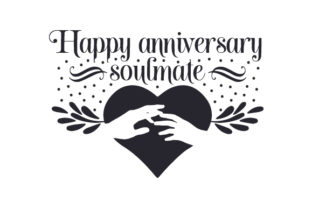 Happy Anniversary, Soulmate Craft Design By Creative Fabrica Crafts