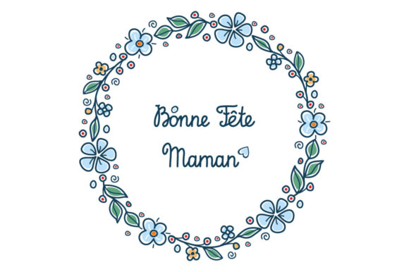 Download Free Happy Mother S Day Greeting Card In French Graphic By Zoyali for Cricut Explore, Silhouette and other cutting machines.