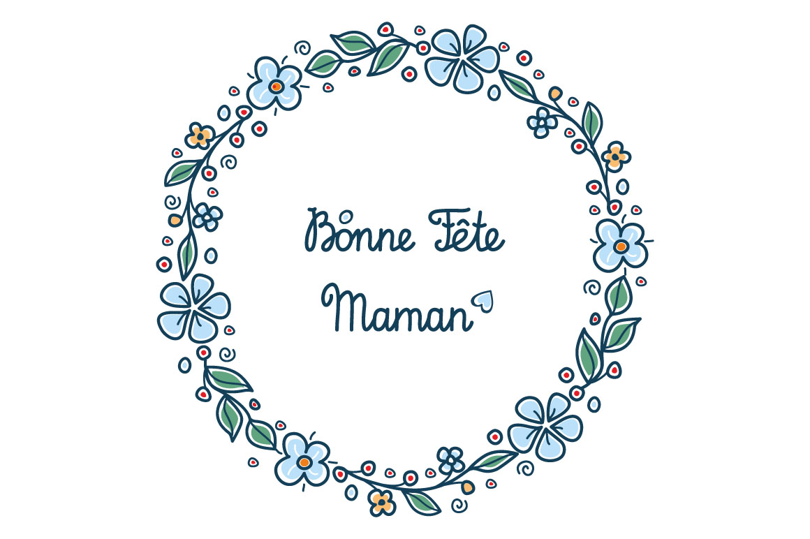 Happy Mother S Day Greeting Card In French Graphic By Zoyali