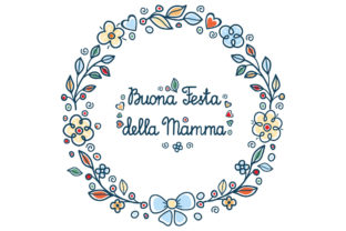 Print on Demand: Happy Mother's Day Greeting Card in Italian Graphic Illustrations By zoyali