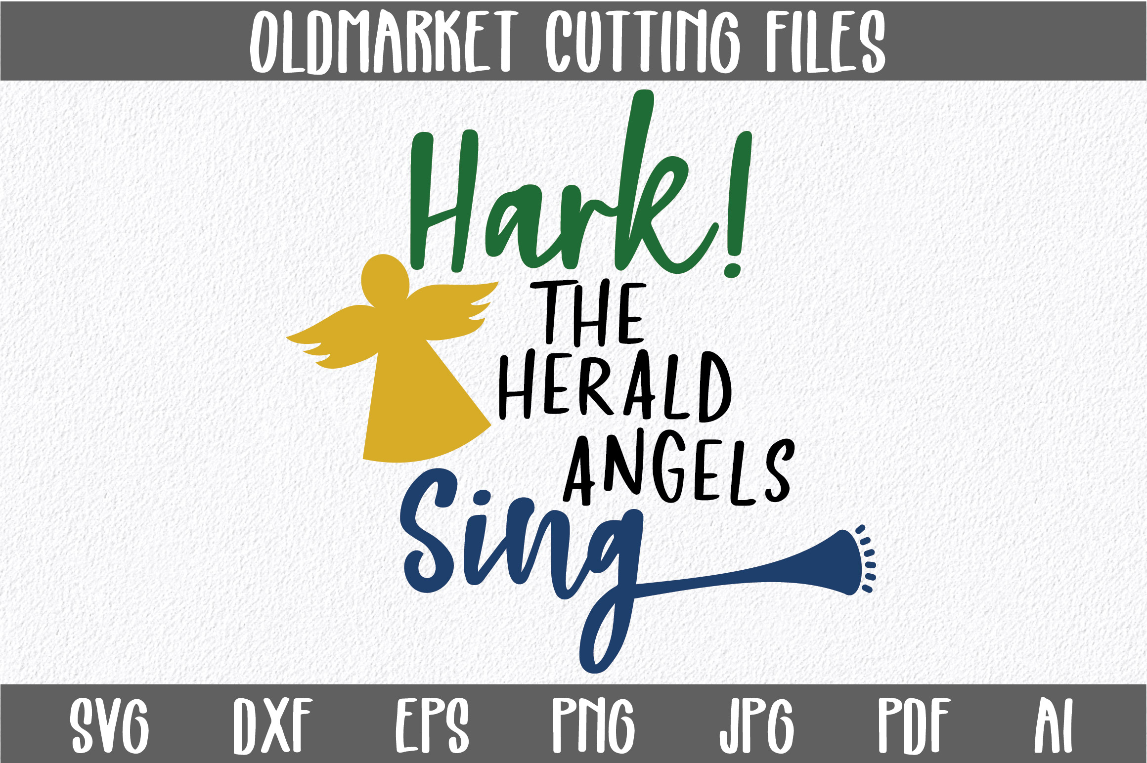 Download Free Hark The Herald Angels Sing Christmas Svg Cut File Graphic By for Cricut Explore, Silhouette and other cutting machines.