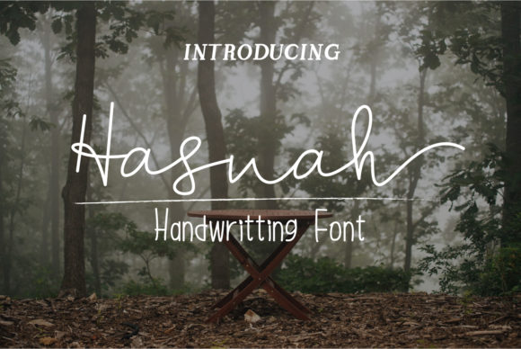 Print on Demand: Hasnah Script & Handwritten Font By Muhammad Ersya