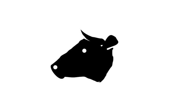 Download Free Head Cow Logo Grafico Por Yahyaanasatokillah Creative Fabrica for Cricut Explore, Silhouette and other cutting machines.