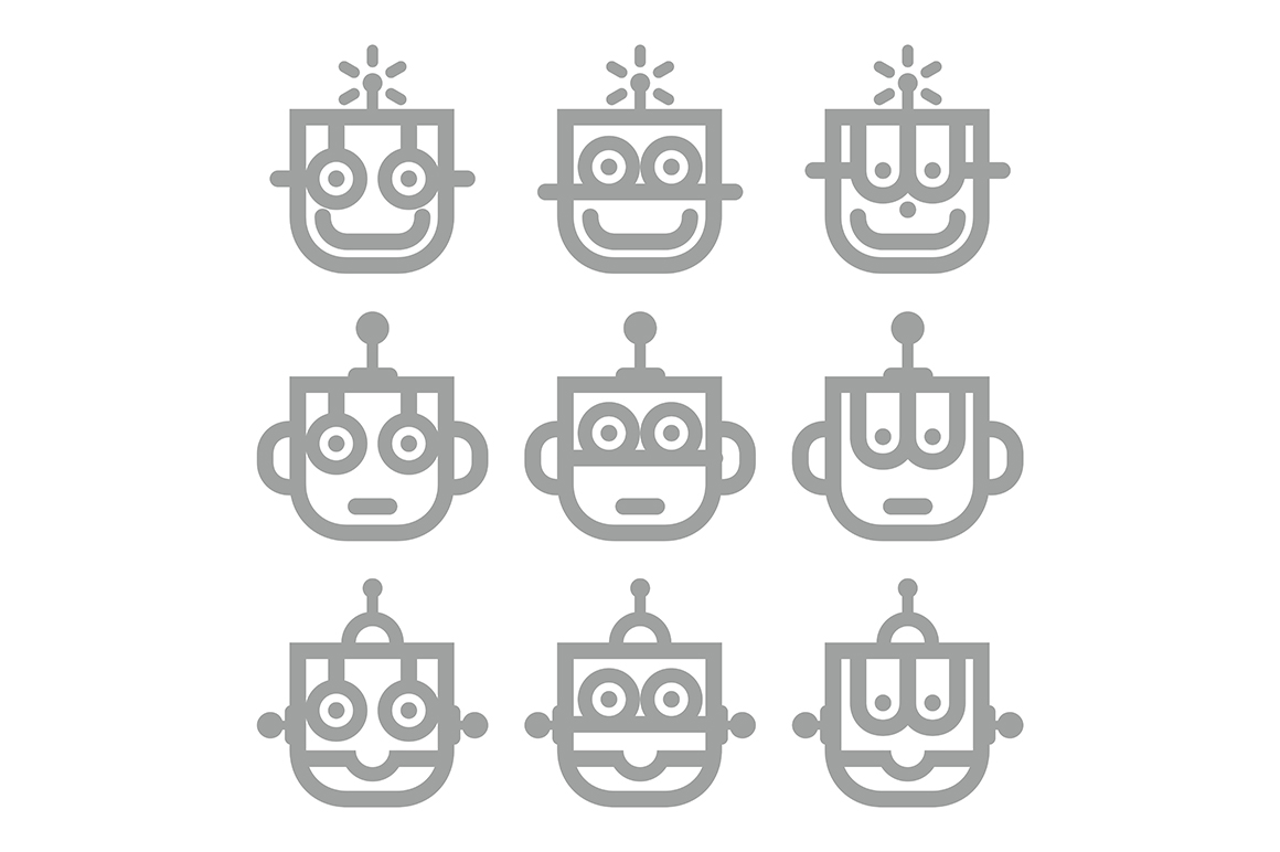 Download Free Head Of Robot Graphic By Acongraphic Creative Fabrica for Cricut Explore, Silhouette and other cutting machines.