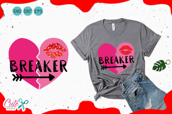 Heart Breaker Valentines Day Svg Graphic By Cute Files Creative