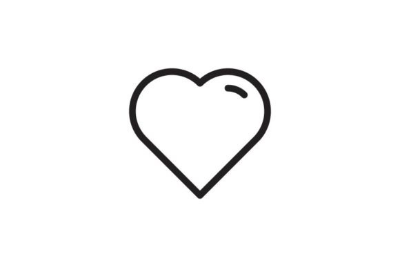 Print on Demand: Heart Graphic Icons By RE stock  - Image 1