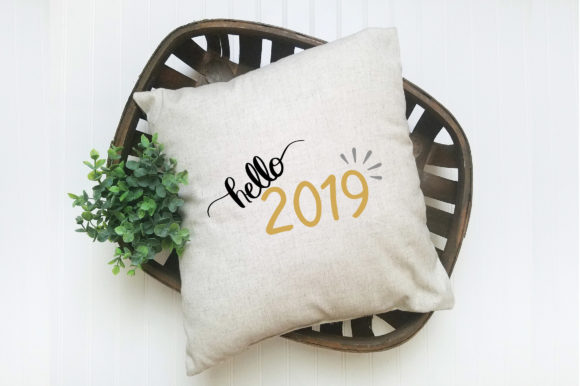 Download Free Hello 2019 Cut File New Year S Grafico Por Oldmarketdesigns for Cricut Explore, Silhouette and other cutting machines.