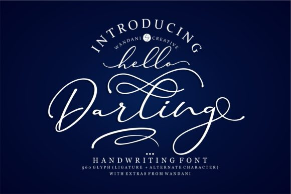 Print on Demand: Hello Darling Script & Handwritten Font By Wandani Creative