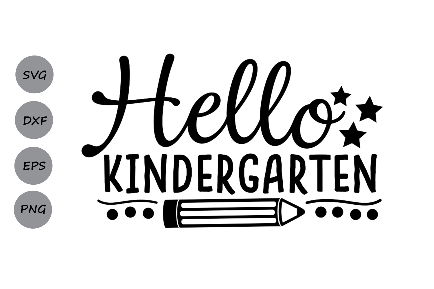 Download Free Hello Kindergarten Grafico Por Cosmosfineart Creative Fabrica for Cricut Explore, Silhouette and other cutting machines.