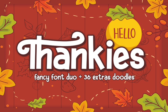 Print on Demand: Hello Thankies Display Font By figuree studio