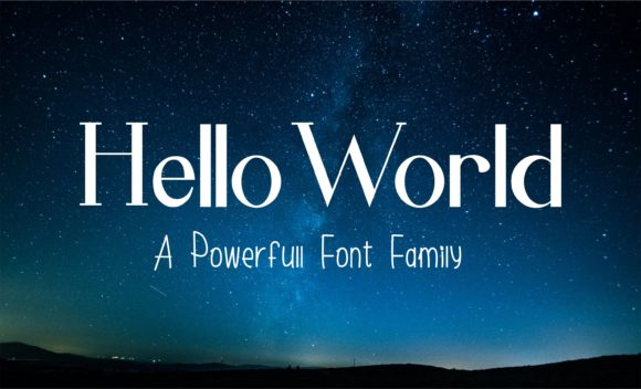 Hello World Family Sans Serif Font By Muhammad Ersya