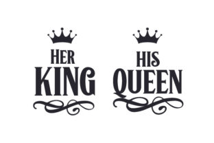 Her King - His Queen Amor Archivo de Corte Craft Por Creative Fabrica Crafts