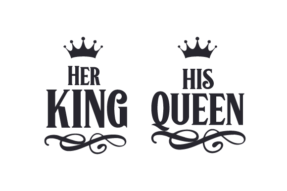 King And Queen Tattoo Font: His Queen SVG Cut File By Creative Fabrica
