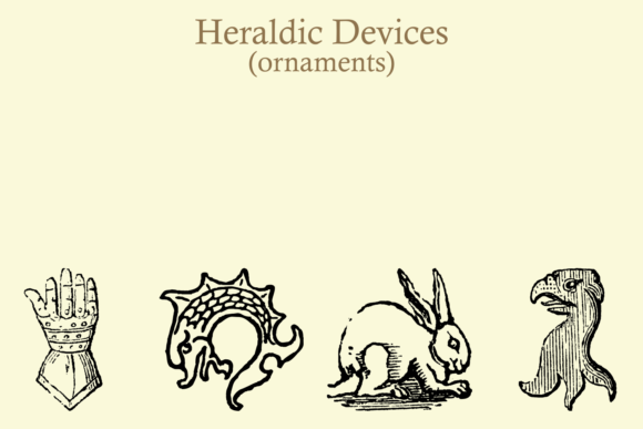 Download Free Heraldic Devices Premium Font By Intellecta Design Creative for Cricut Explore, Silhouette and other cutting machines.