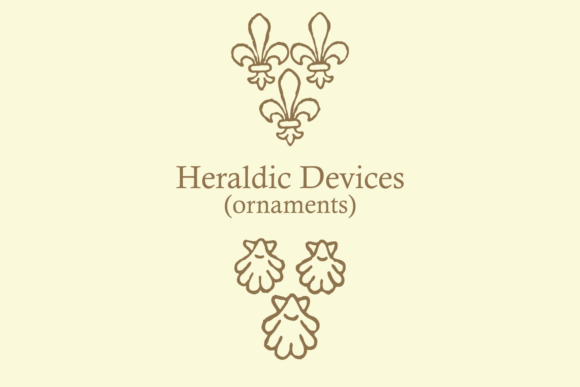 Print on Demand: Heraldic Devices Premium Dingbats Font By Intellecta Design