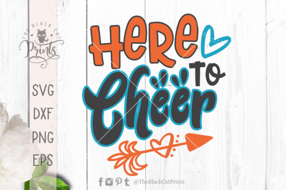 Download Free Here To Cheer Svg Graphic By Theblackcatprints Creative Fabrica for Cricut Explore, Silhouette and other cutting machines.