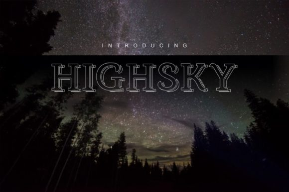 Print on Demand: HighSky Display Font By bywahtung