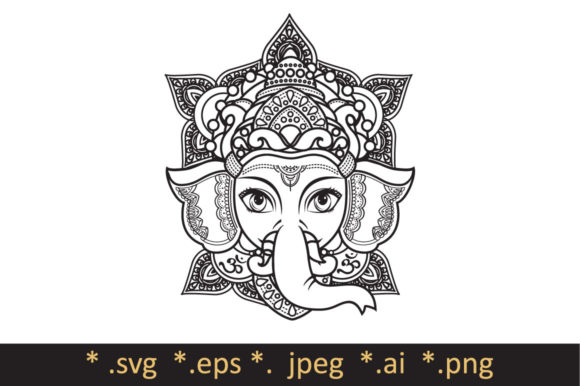 Download Free Hindu Elephant Head God Lord Ganesh Grafik Von Zoyali Creative for Cricut Explore, Silhouette and other cutting machines.
