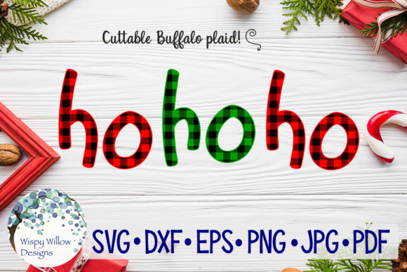 Download Free Ho Ho Ho Buffalo Plaid Christmas Svg Graphic By for Cricut Explore, Silhouette and other cutting machines.