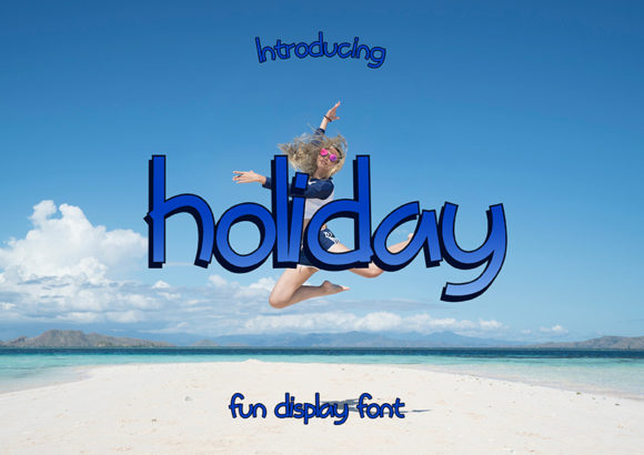 Print on Demand: Holiday Display Font By Typeting Studio