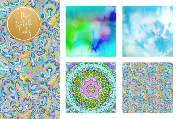 Print on Demand: Holistic & Psychedelic Watercolor Pattern Scrapbook Papers Graphic Patterns By daphnepopuliers - Image 2