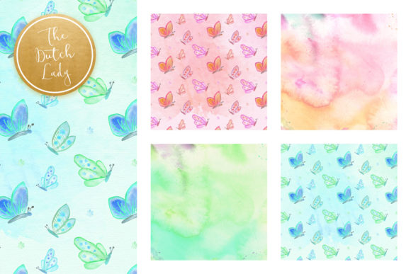 Print on Demand: Holistic & Psychedelic Watercolor Pattern Scrapbook Papers Graphic Patterns By daphnepopuliers - Image 4