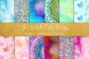 Print on Demand: Holistic & Psychedelic Watercolor Pattern Scrapbook Papers Graphic Patterns By daphnepopuliers