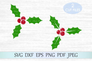 Download Free Holly Berry Graphic By Magicartlab Creative Fabrica for Cricut Explore, Silhouette and other cutting machines.