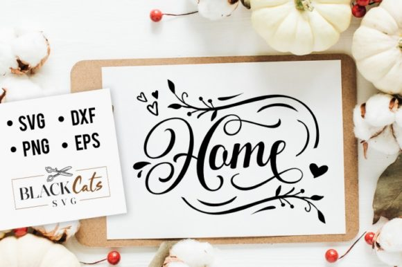 Home Wording Graphic Crafts By BlackCatsMedia