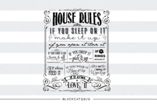 Print on Demand: House Rules Graphic Crafts By BlackCatsMedia