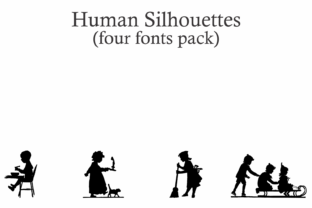 Print on Demand: Human Silhouettes Dingbats Font By Intellecta Design