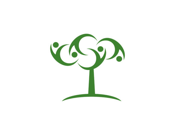 Download Free Human Tree Creative Concept Logo Graphic By Meisuseno Creative for Cricut Explore, Silhouette and other cutting machines.