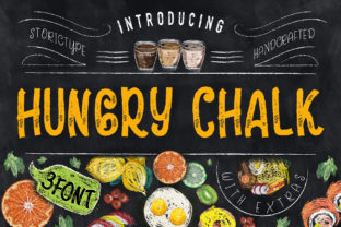 Print on Demand: Hungry Chalk Script & Handwritten Font By storictype