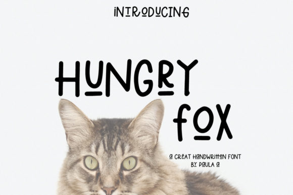 Print on Demand: Hungry Fox Sans Serif Font By PaulaType