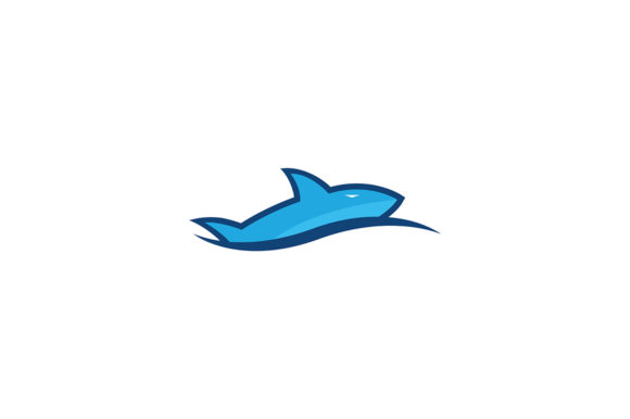 Hunter Blue Shark Icon Graphic Logos By Friendesigns