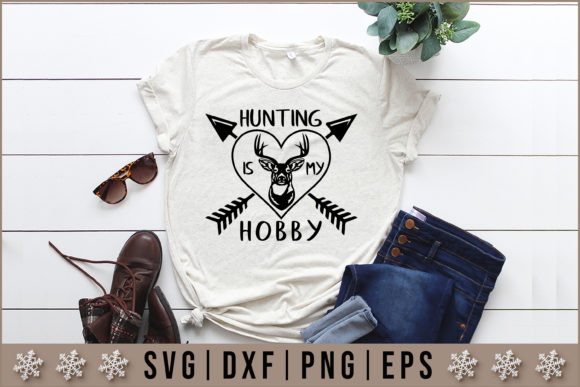 Download Free Hunting Is My Hobby Svg Graphic By Artistcreativedesign for Cricut Explore, Silhouette and other cutting machines.